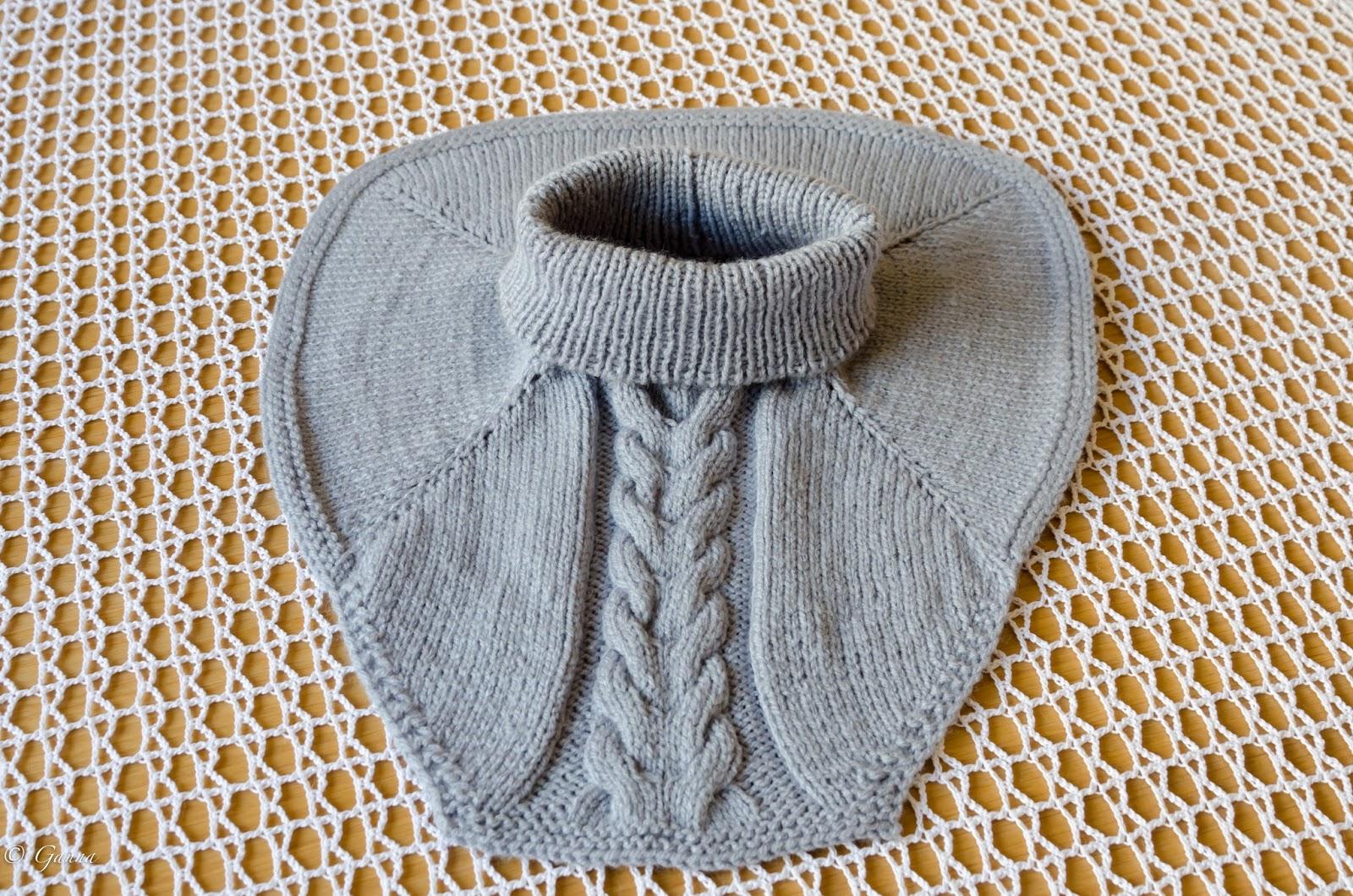 Манишка для мальчика спицами, схема вязания для 25