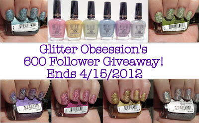 Glitter Obsession's 600 Followers Giveaway
