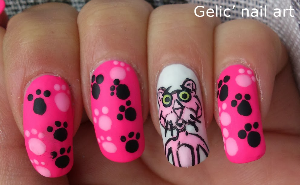 ... pink panther) but it's quite obvious that her version is much more  realistic. My favorite part of this nail art is actually the nails with the  paws, ... - Gelic' Nail Art: 31DC2013 Day 30; Pink Panther Nail Art