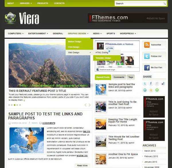 Viera WordPress Theme