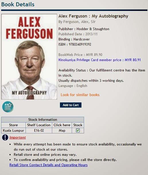 alex ferguson my autobiography ferguson alex