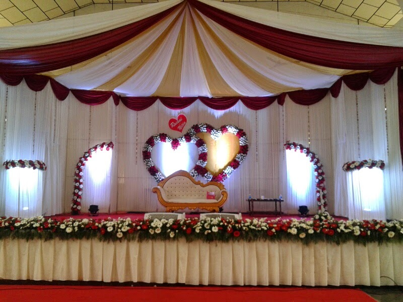 Wedding reception stage decoration for Marriage decoration photos