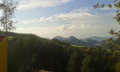 Leśnicka Przełęcz widok na Pieniny