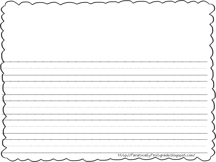 free printable first grade writing paper