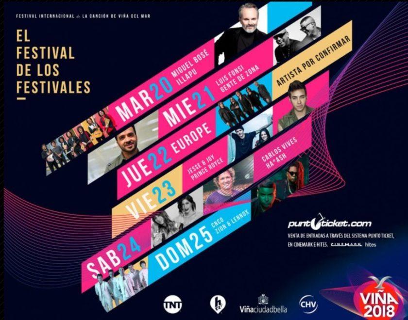 Así fue el lanzamiento oficial del Festival de Viña del Mar 2018