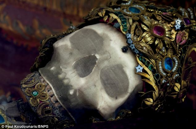 Incredible skeletal remains of Catholic saints still dripping in gems and jewellery discovered by 'Indiana Bones' explorer  Article-2413688-1BA74F09000005DC-957_634x419