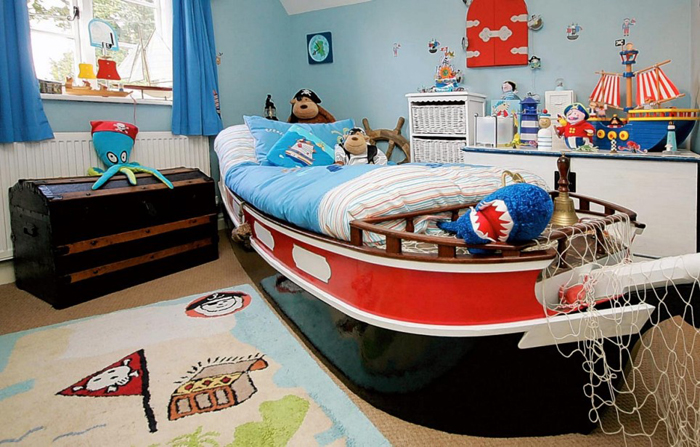 Cool Red Boys Bedroom Furniture With Car Models
