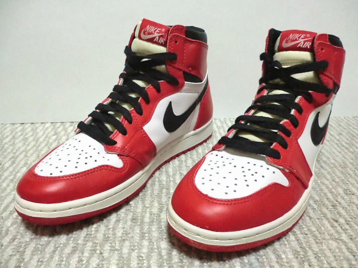 '94 Reissue Nike Air Jordan I White/Black/Red US8.5 With Box & Card 94年復刻  ナイキ エアジョーダン1 白/黒/赤 26.5cm 箱カードあり完品