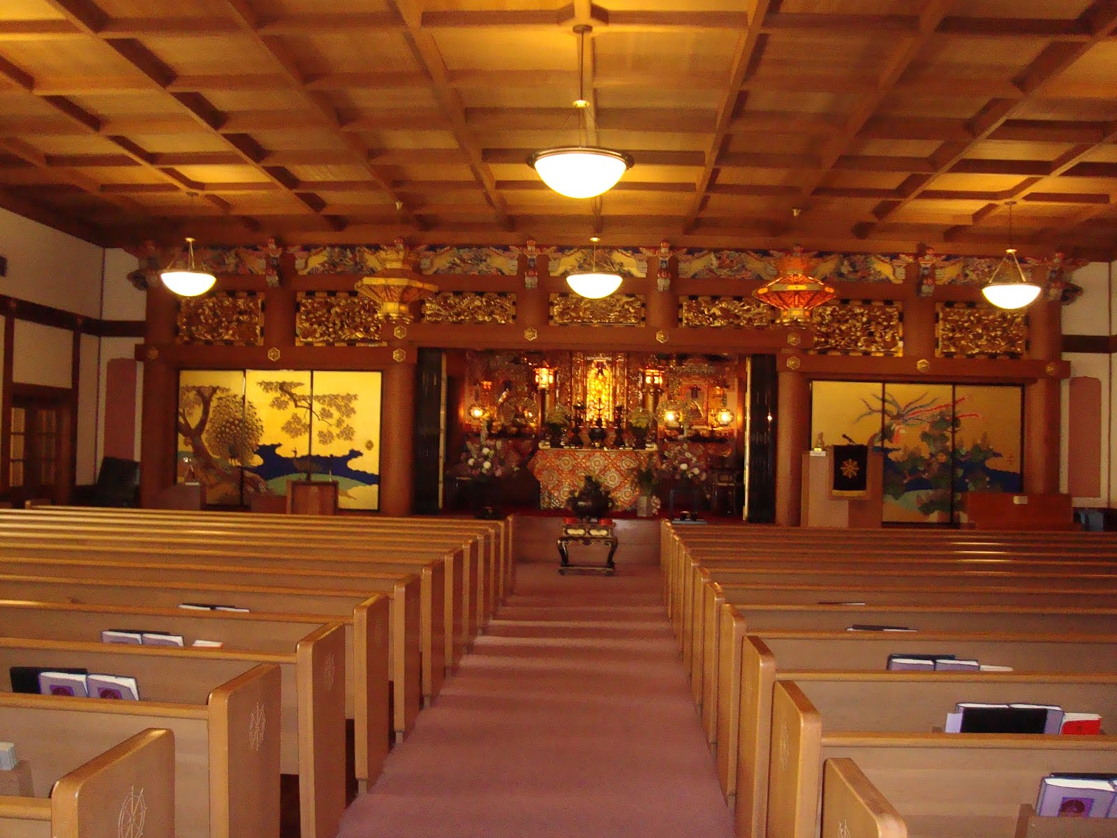 main worship hall at the buddhist church of san francisco site of history s first buddhist same sex wedding photo by jeff wilson