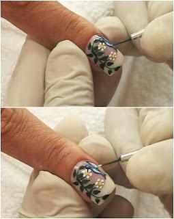 acabamento do beija-flor nas unhas
