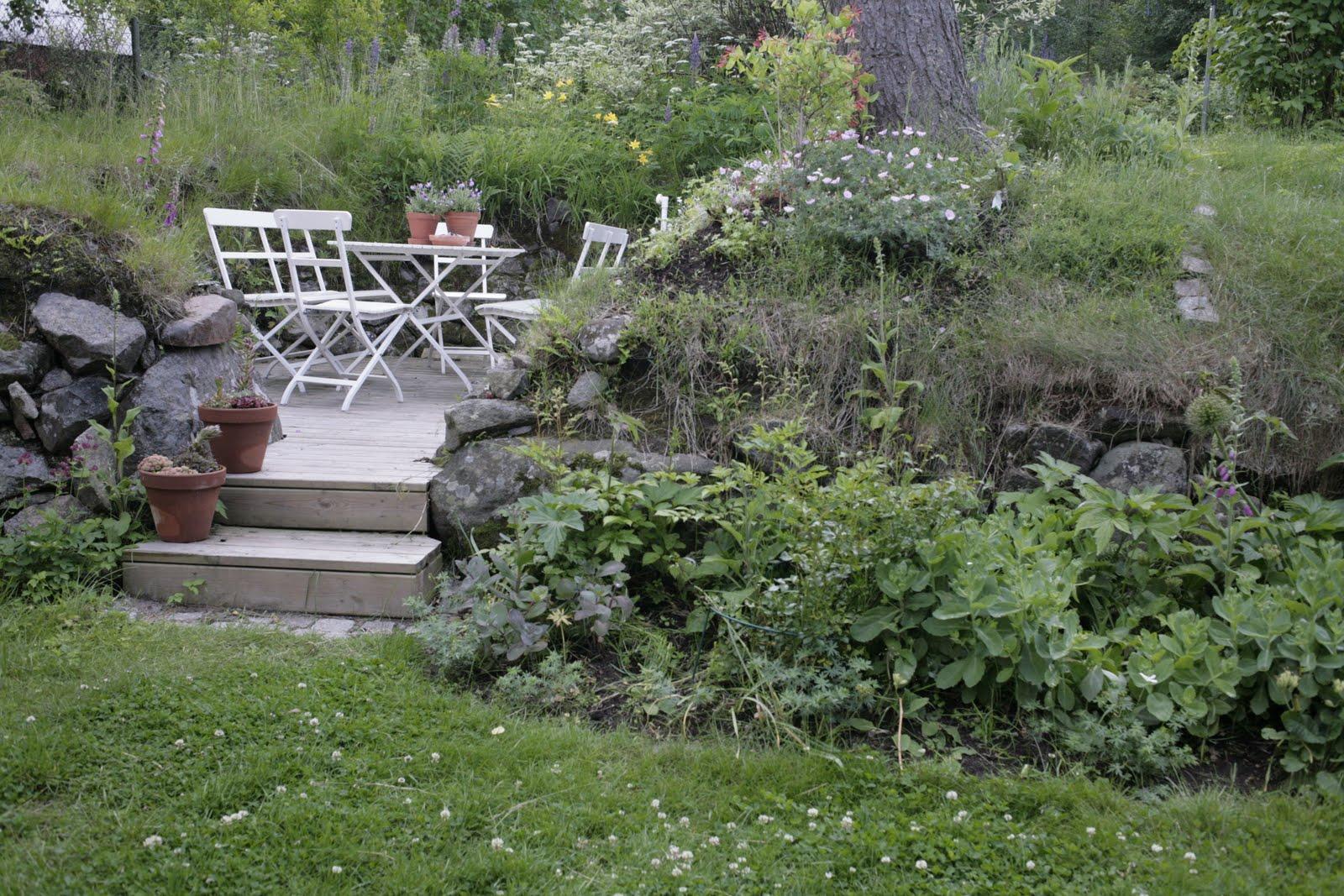 Trädgården på höjden Jag zoomar ut