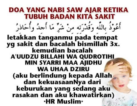 Doa Untuk Kesihatan Tubuh Badan