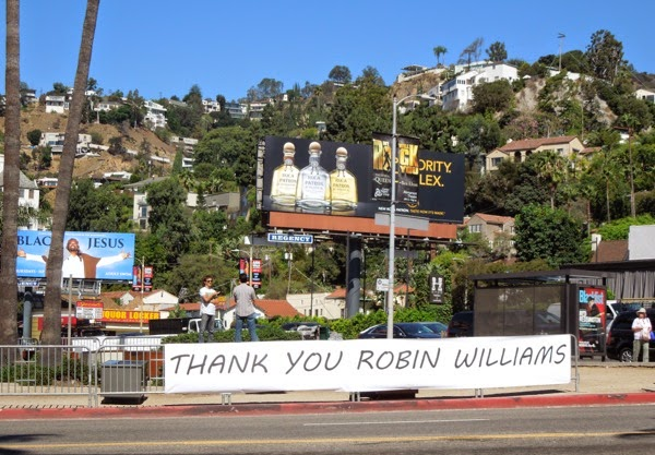 Thank You Robin Williams tribute Sunset Strip