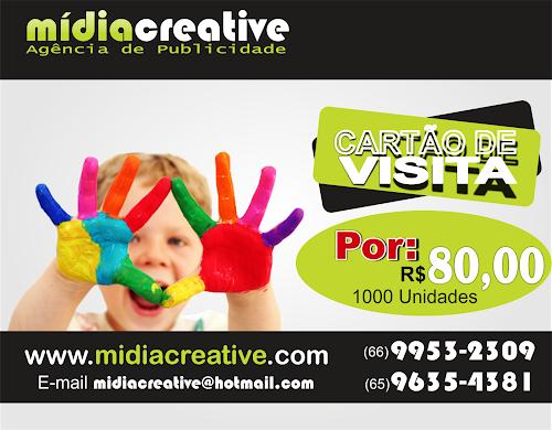 Promoção de Cartão de Visita - Mídia Creative