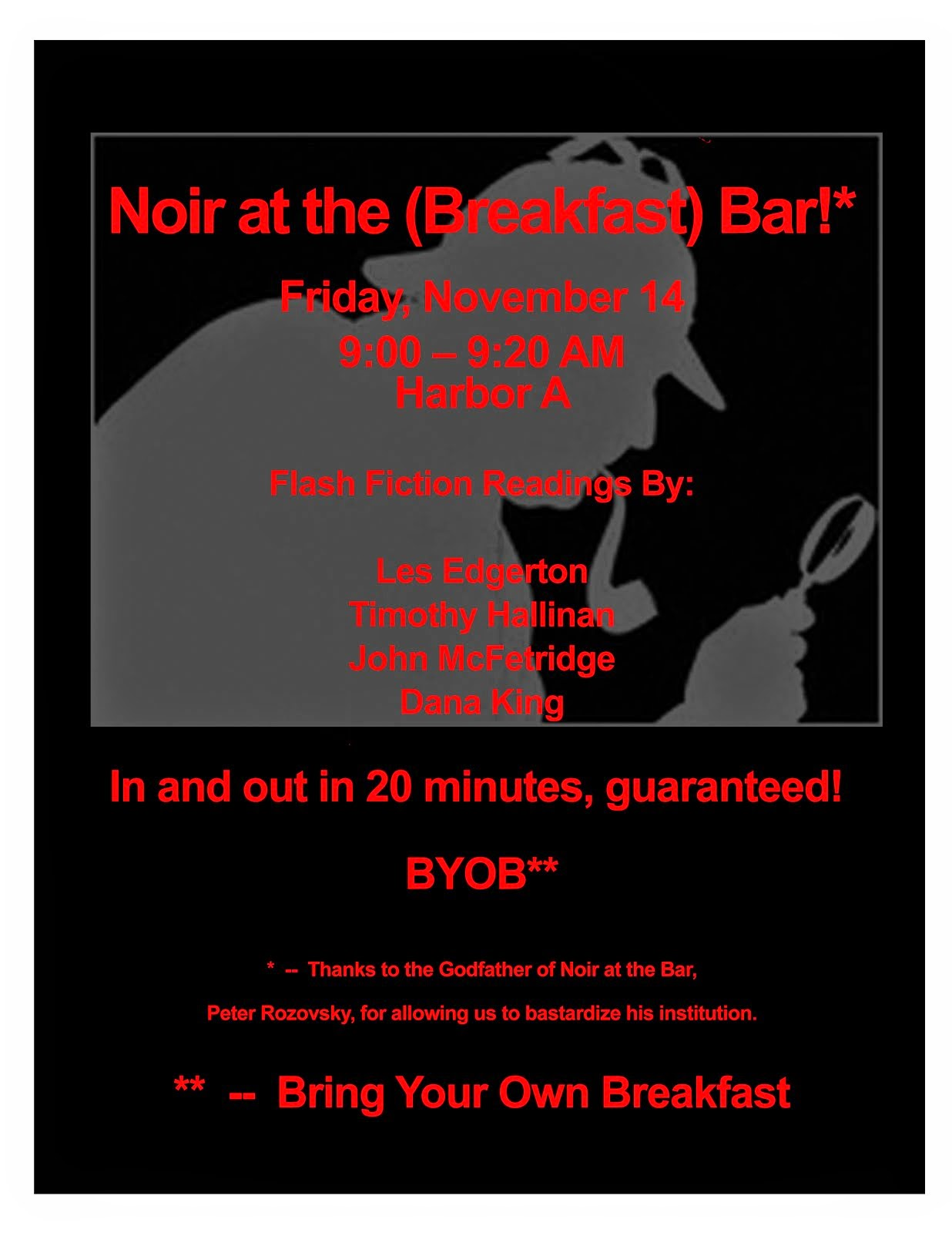 Noir at the (Breakfast) Bar