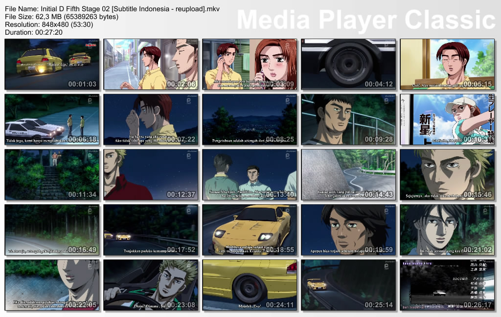 Initial D Fifth Stage Episode 2 [Subtitle Indonesia]