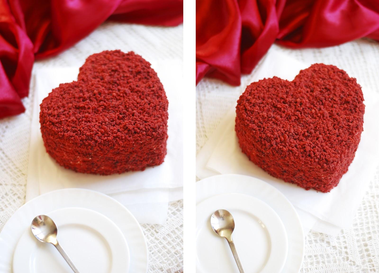 Как сделать торт в виде сердца из круглых коржей