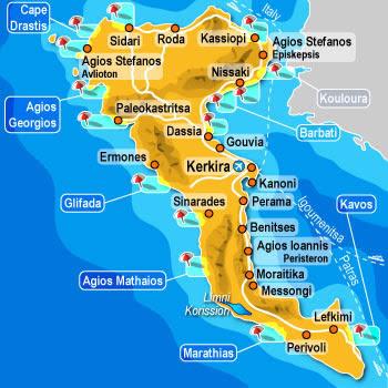 Corfu Island, Greece - Tourist Destinations