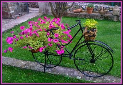 Recicla decora fusiona bicicletas ecol gicas for Como hacer adornos para jardines exteriores