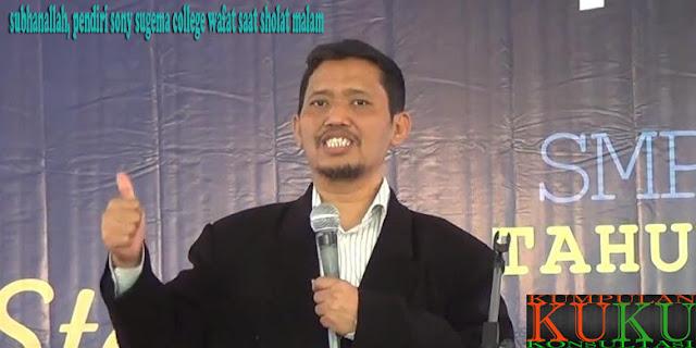subhanallah, pendiri sony sugema college wafat saat sholat malam