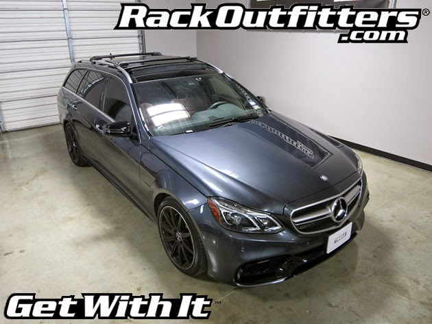 Rack outfitters new mercedes benz e class wagon thule for Mercedes benz roof rails