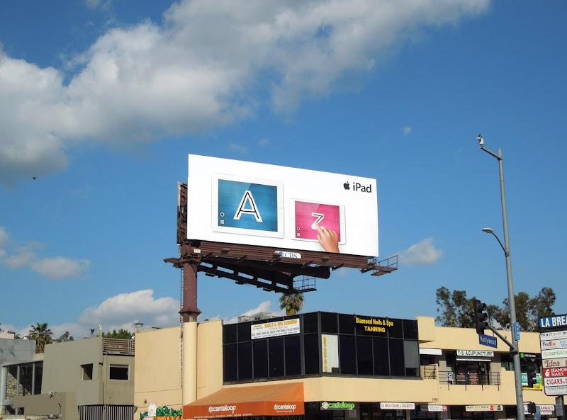 iPad mini A Z billboard