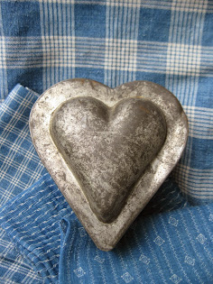 early tin heart mold for $45