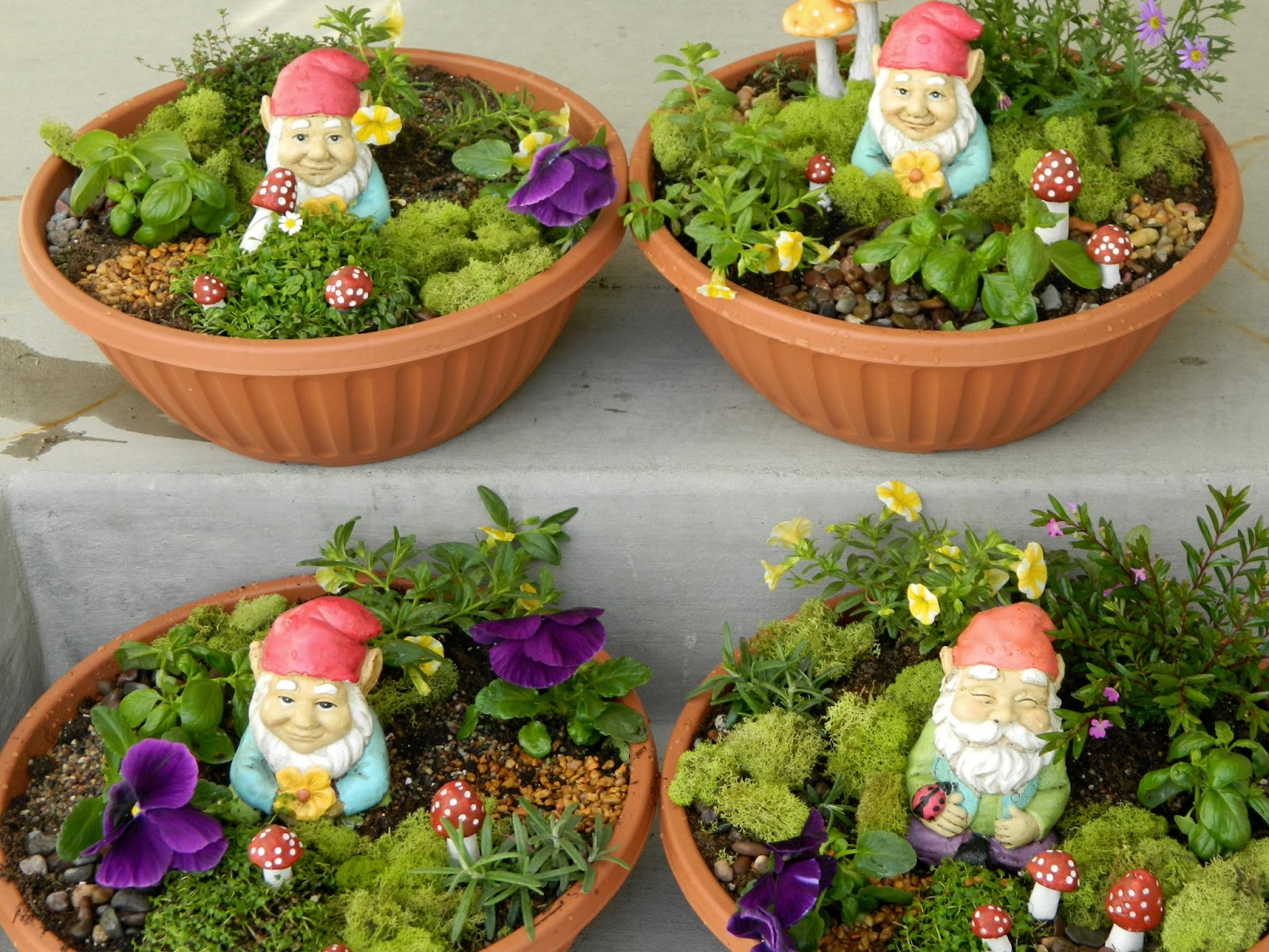 the vintage umbrella: Teacher Appreciation idea: gnome garden