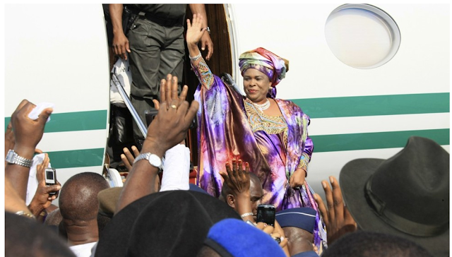 Patience Jonathan returns home from Germany @osaseye.blogspot.com