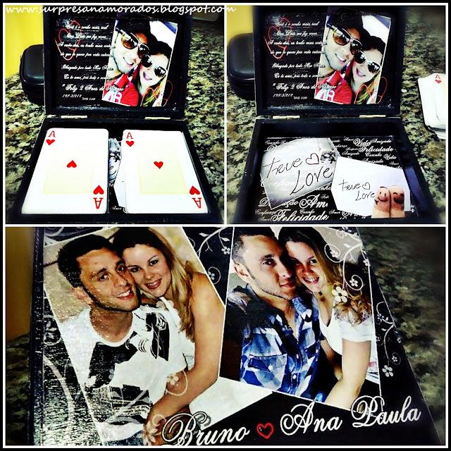 caixa de baralho personalizada com foto