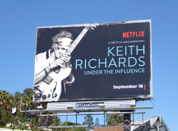 Keith Richards Under the influence billboard