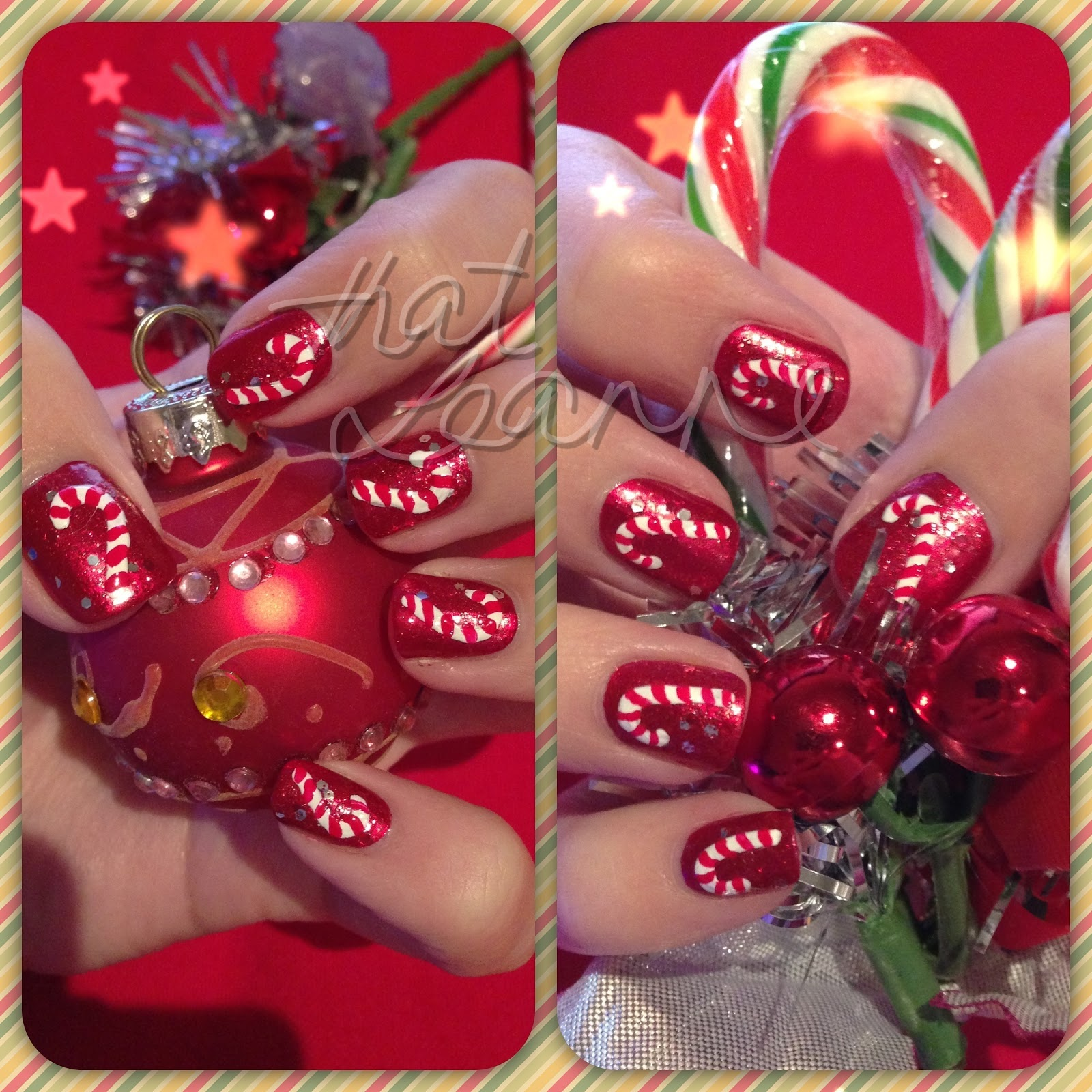 Thatleanne christmas eve candy cane nail art hi everyone ive been away but i couldnt let christmas pass by without a christmas nail art mani prinsesfo Image collections