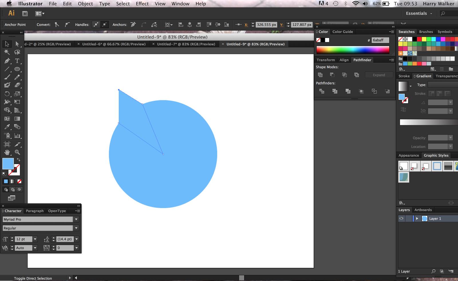 how to make document black illustrator