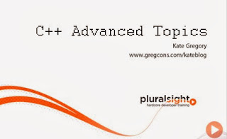 Pluralsight – C++ Advanced Topics
