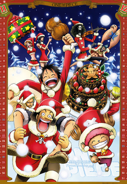 One Piece Crew Christmas Party Wallpaper 0007