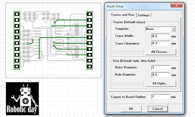 Membuat Design PCB Auto routing dengan Diptrace