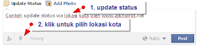 Update Status FB via Lokasi Kota
