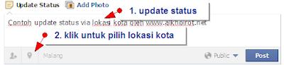 Update Status FB via Lokasi Kota