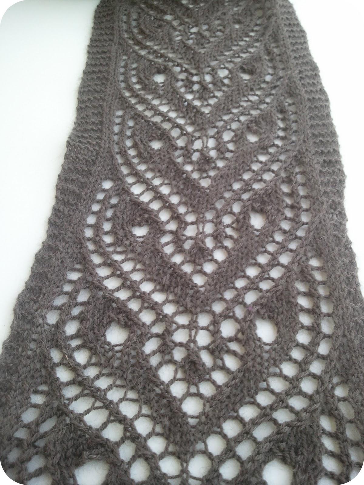 Modele echarpe tricot machine - Point de tricot ajoure pour echarpe ...