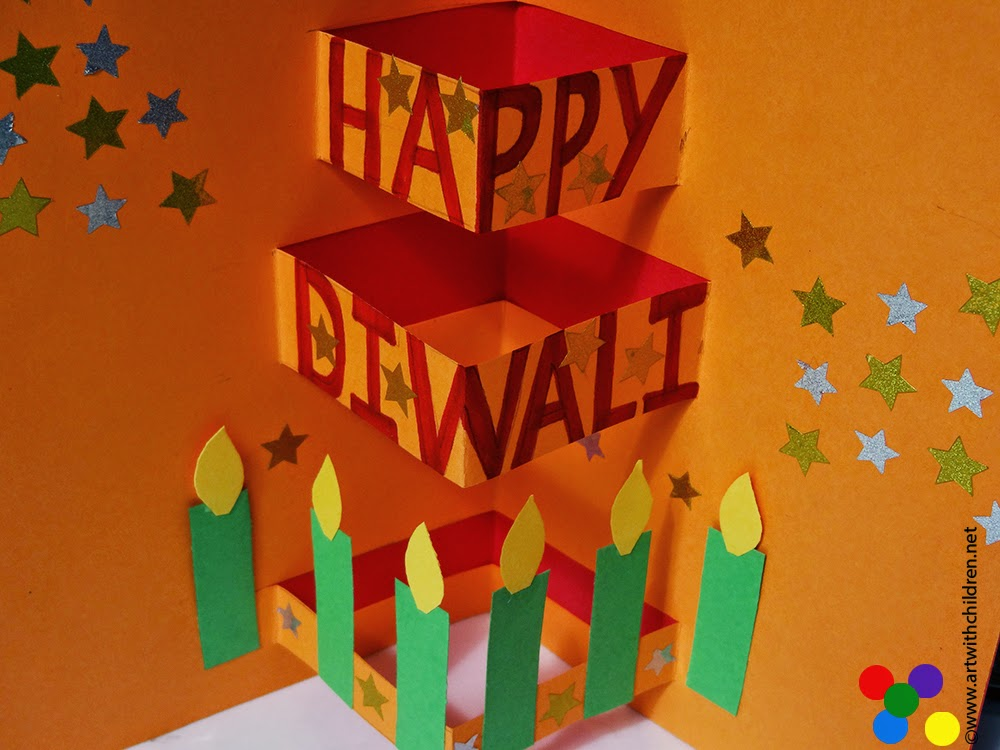 Card Making Ideas For Diwali Part - 23: It Should Look Like This When The Card Is Open.