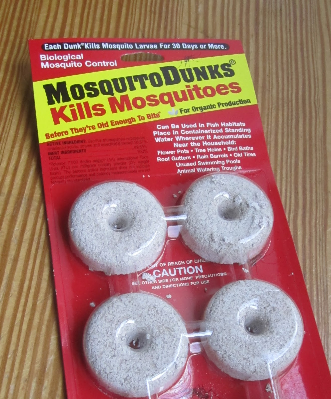 Miniponds as mosquito traps princeton nature notes for Bti mosquito dunks