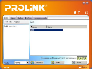 MODEM PROLINK, CARA SMS DENGAN MODEM PROLINK