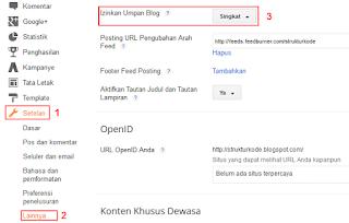 Cara memperpendek RSS Feed blog