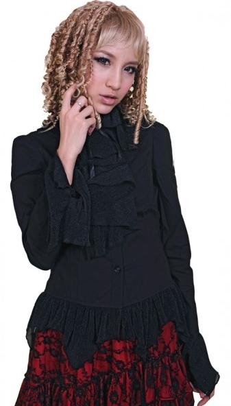 Asymmetrical Ruffle Lolita Blouse for Women