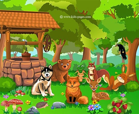 http://www.kids-pages.com/puzzles.php?img=Forest_With_Animals/forest-with-animals.jpg&pc=20