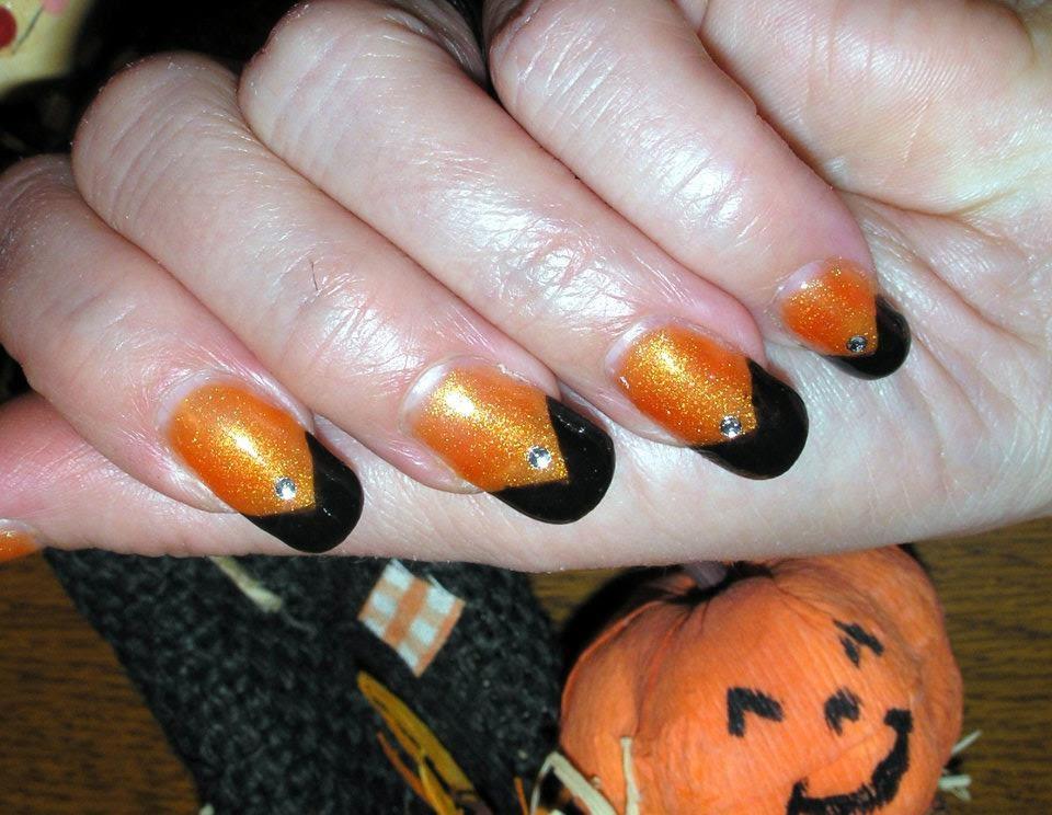 p ch originail nouvelle pose d 39 ongles gel uv et nail art halloween. Black Bedroom Furniture Sets. Home Design Ideas