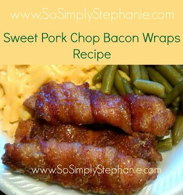 sweet bacon pork chop wraps recipe