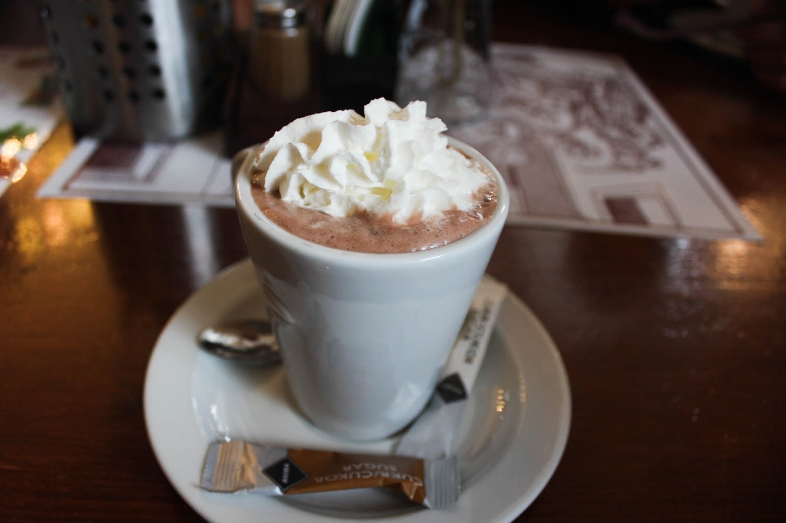 Hot chocolate at largest non smoking restaurant in Prague