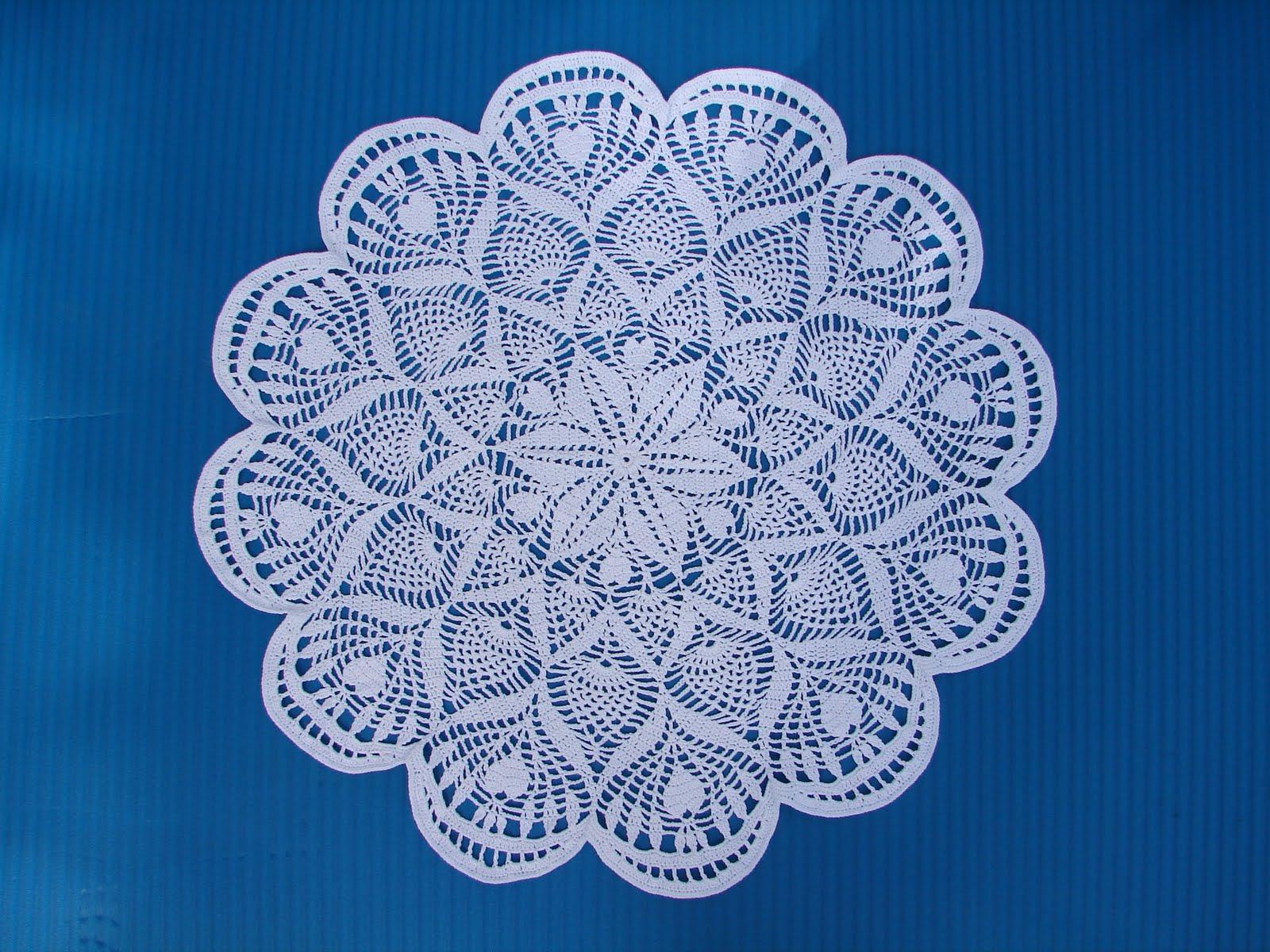 Free Knitting Pattern Lace Doily : JoyKnitCrochet: Lace Doily