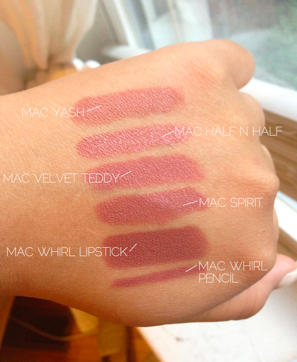 Life as a Junicorn: MAC WHIRL LIPSTICK + MAC COMPARISONS